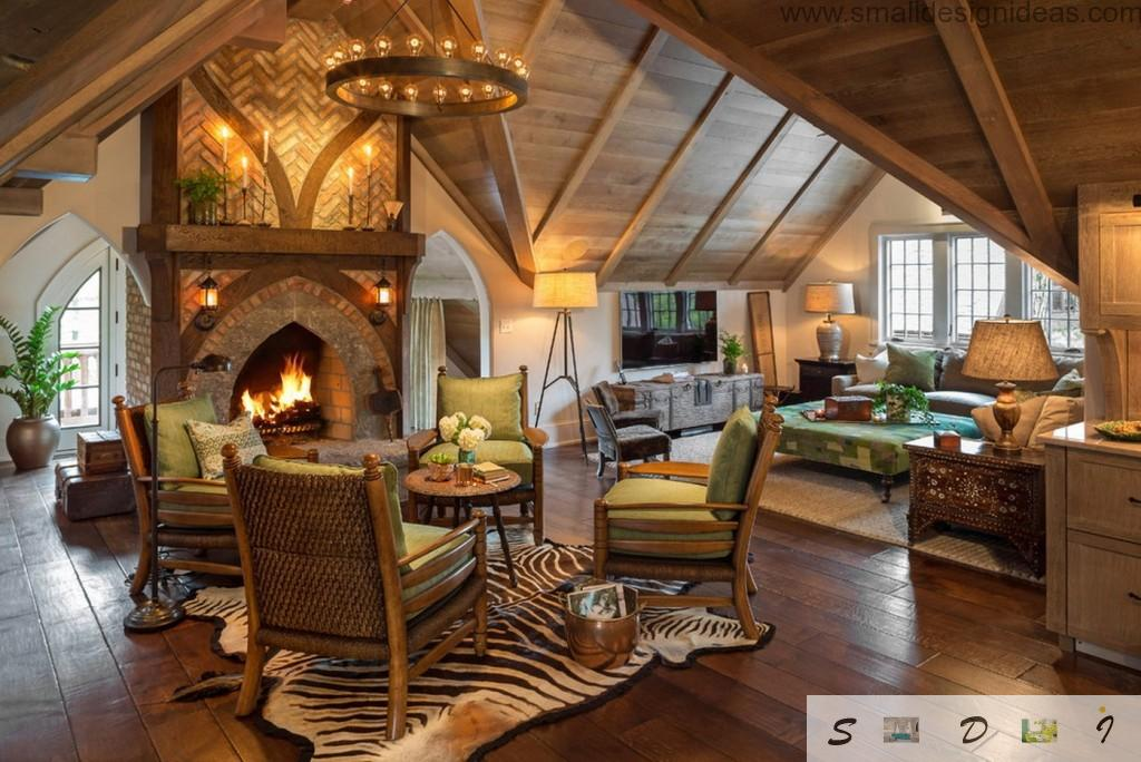 Country Style Furniture Design Ideas in the beautiful interior of the private wood-and- stone house