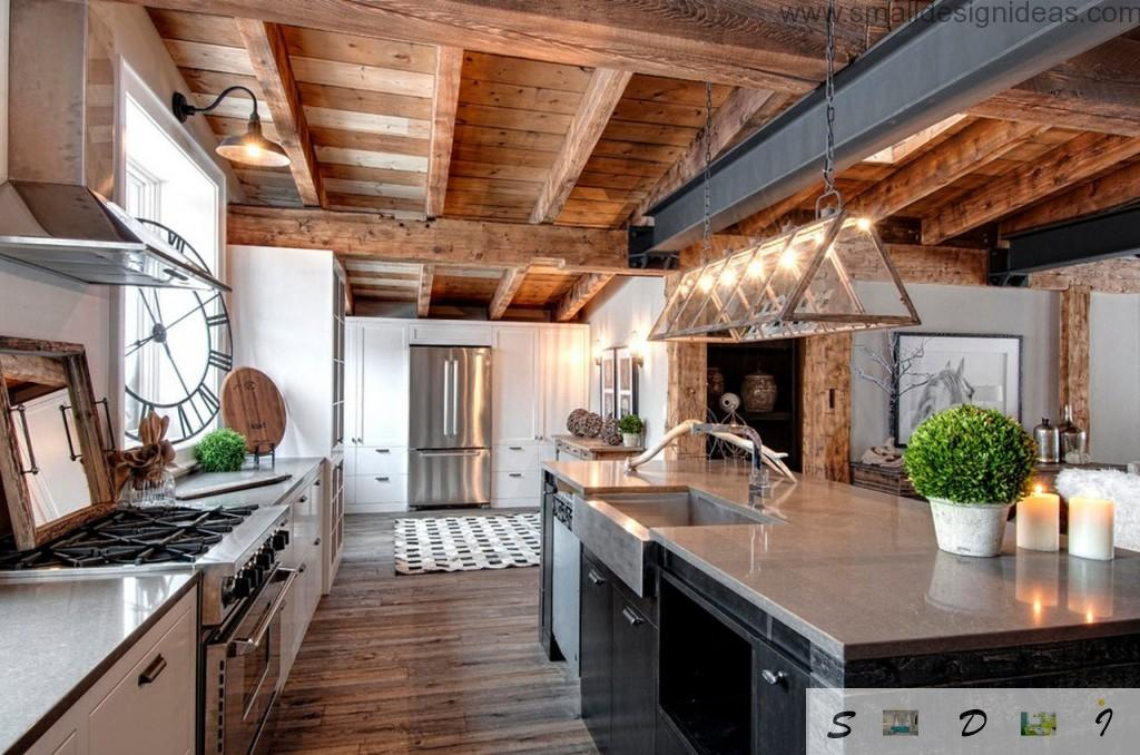 Ontario Canada. Kitchen in the country house and rustic style