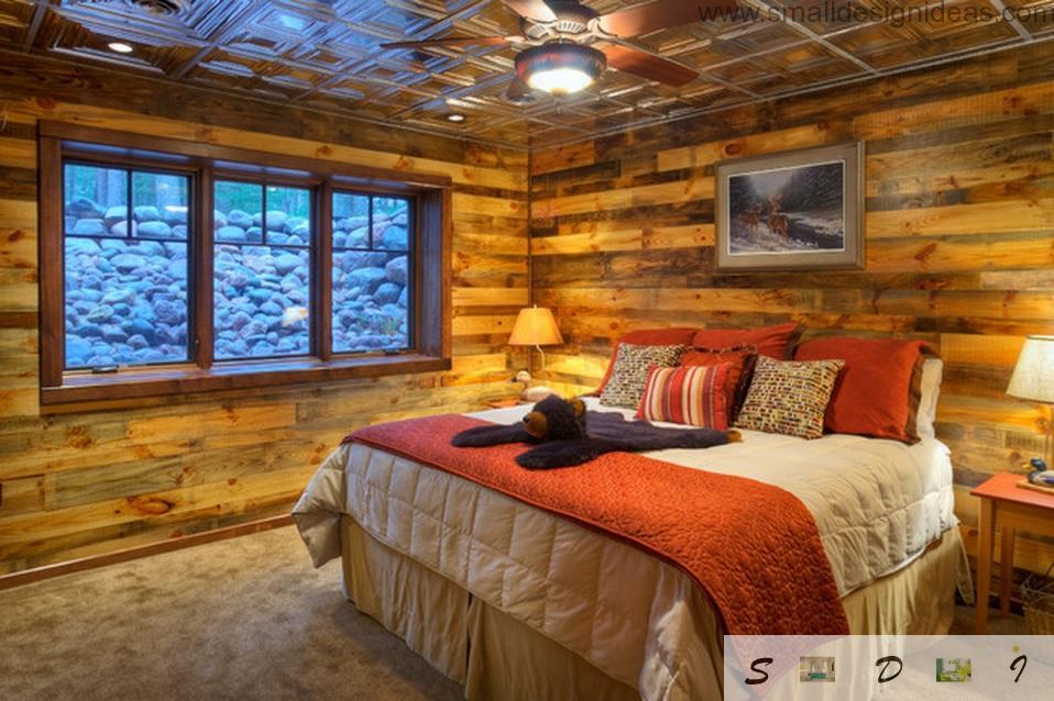 Original country house bedroom for children
