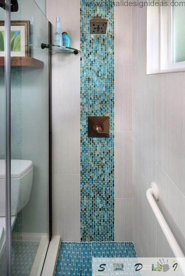Extra Small Bathroom Design Ideas In The Modern Premise With Mosaic Lining