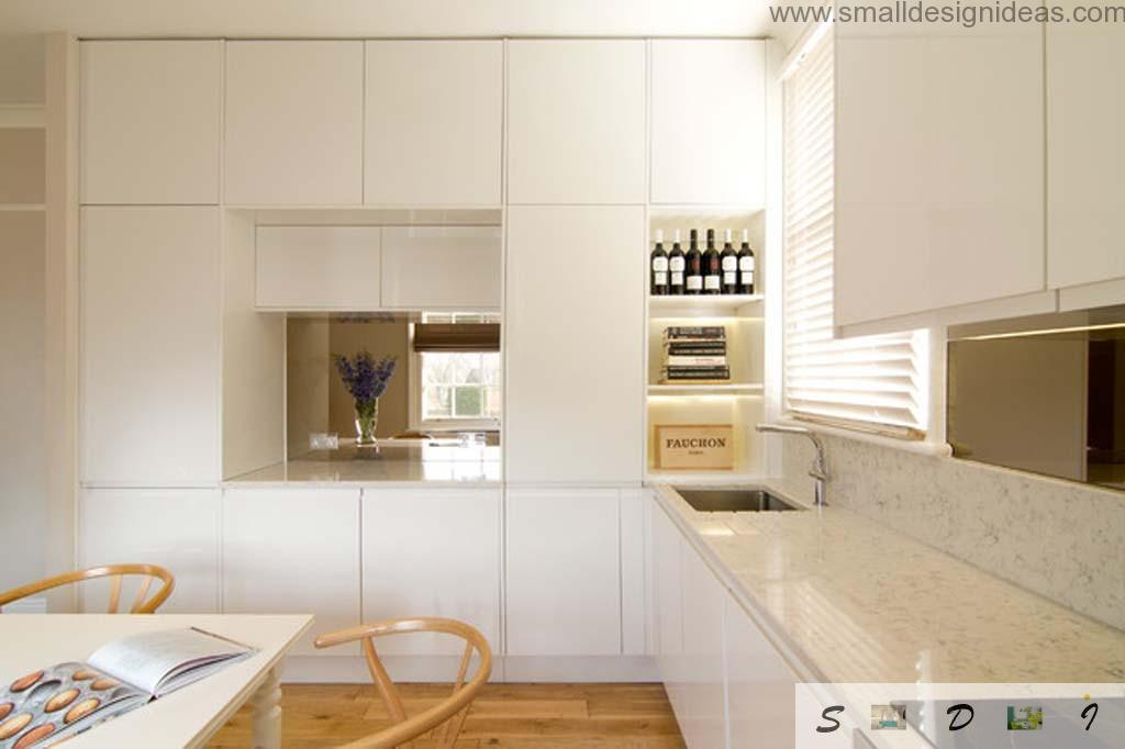 Bright kitchen with light rattan furniture