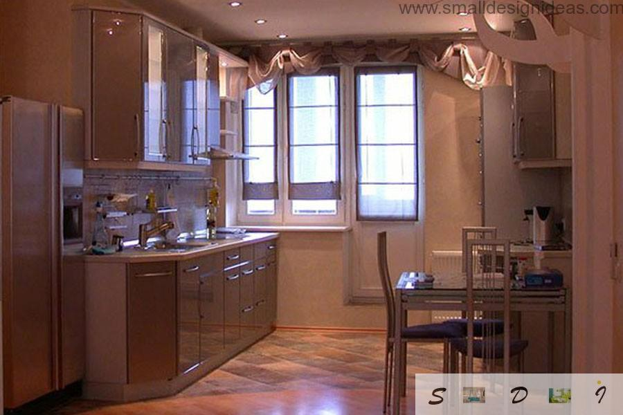 Classic kitchen interior design with wooden furniture