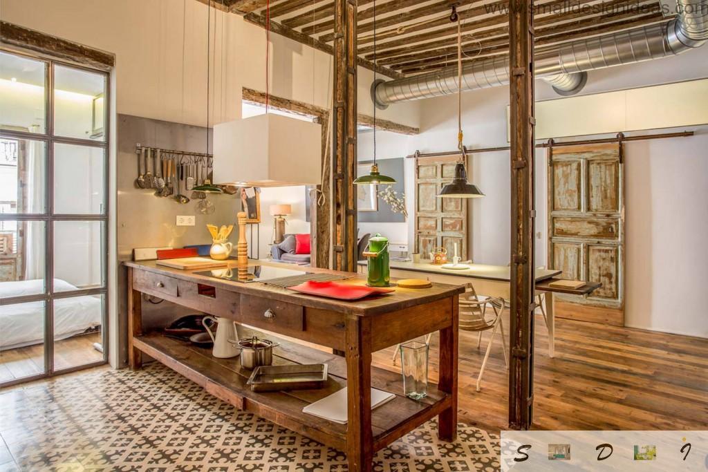 Successful industrial design of the Spanish apartment