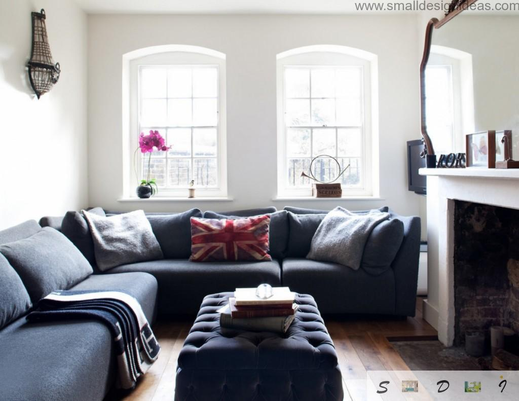 Brittain atmosphere in the small living room arrangement