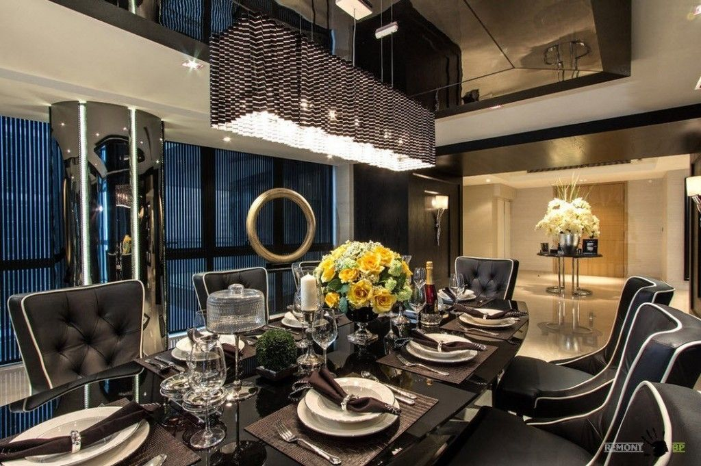 Singapore apartment modern design ideas spacious dining zone in the