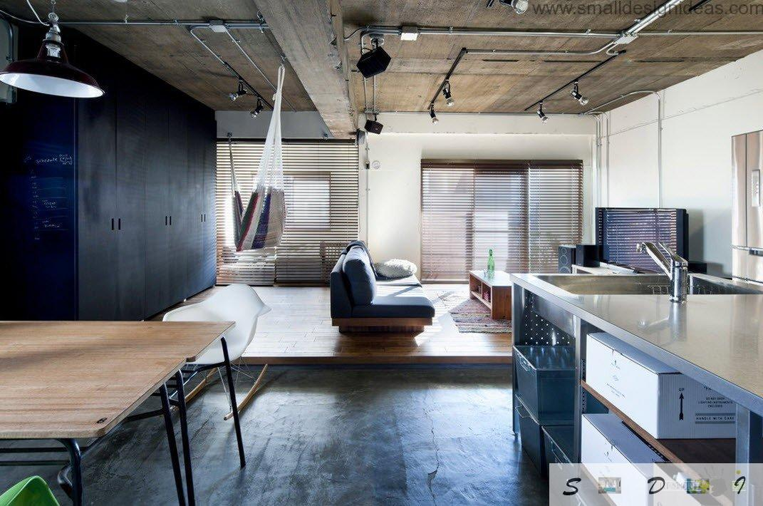 industrial studio apartment.  Real Japanese Studio Apartment Loft Design