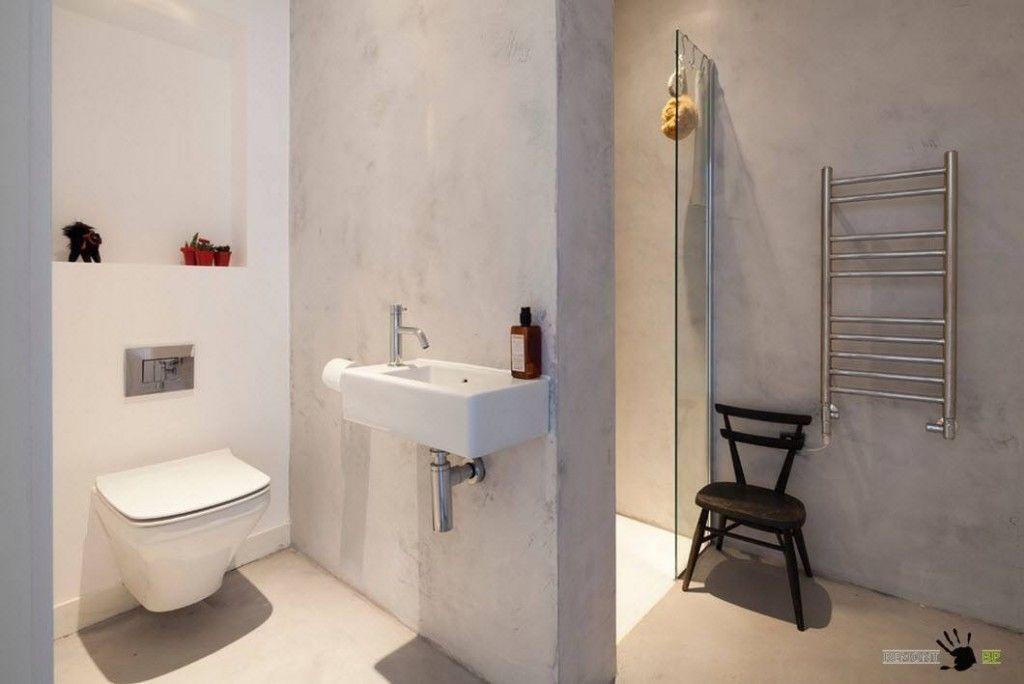 Small bathroom in the Scandinavian house