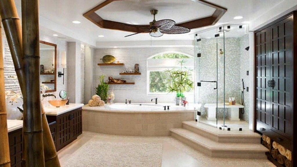 Egyptian spectacular design of the spacious modern bathroom