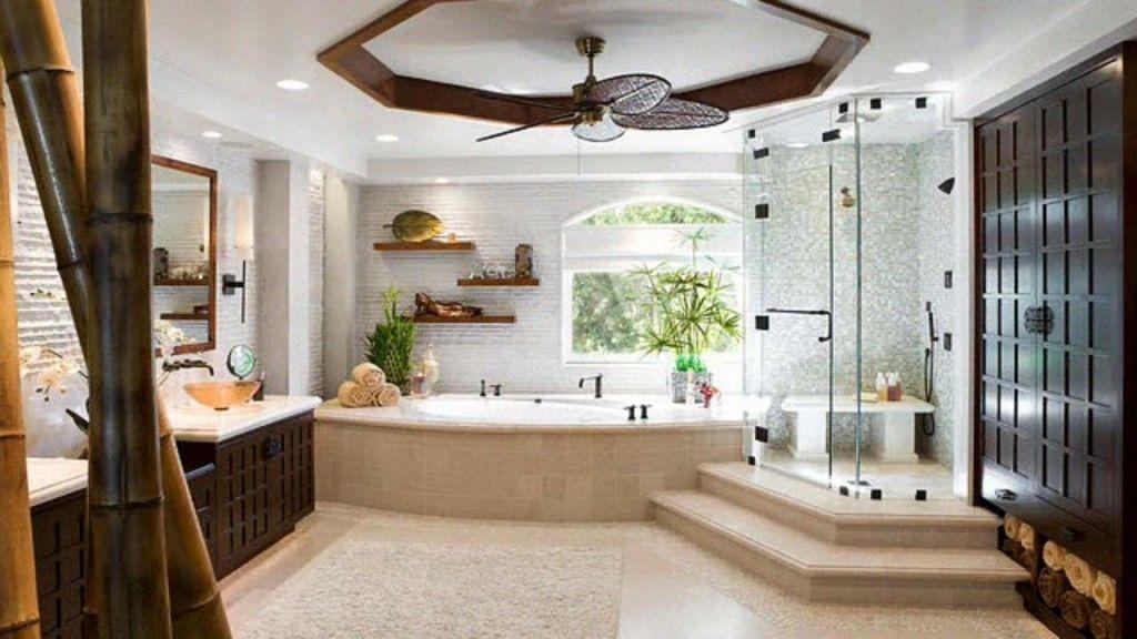 Egyptian spectacular design of the spacious modern bathroom
