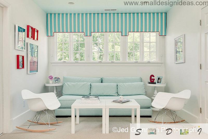 Small Living Room Color Schemes on unique turquoise stripes