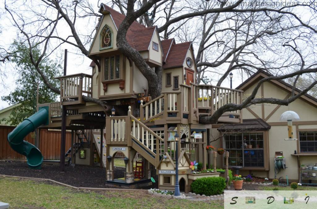 Real tree castle from the fiary tale for children