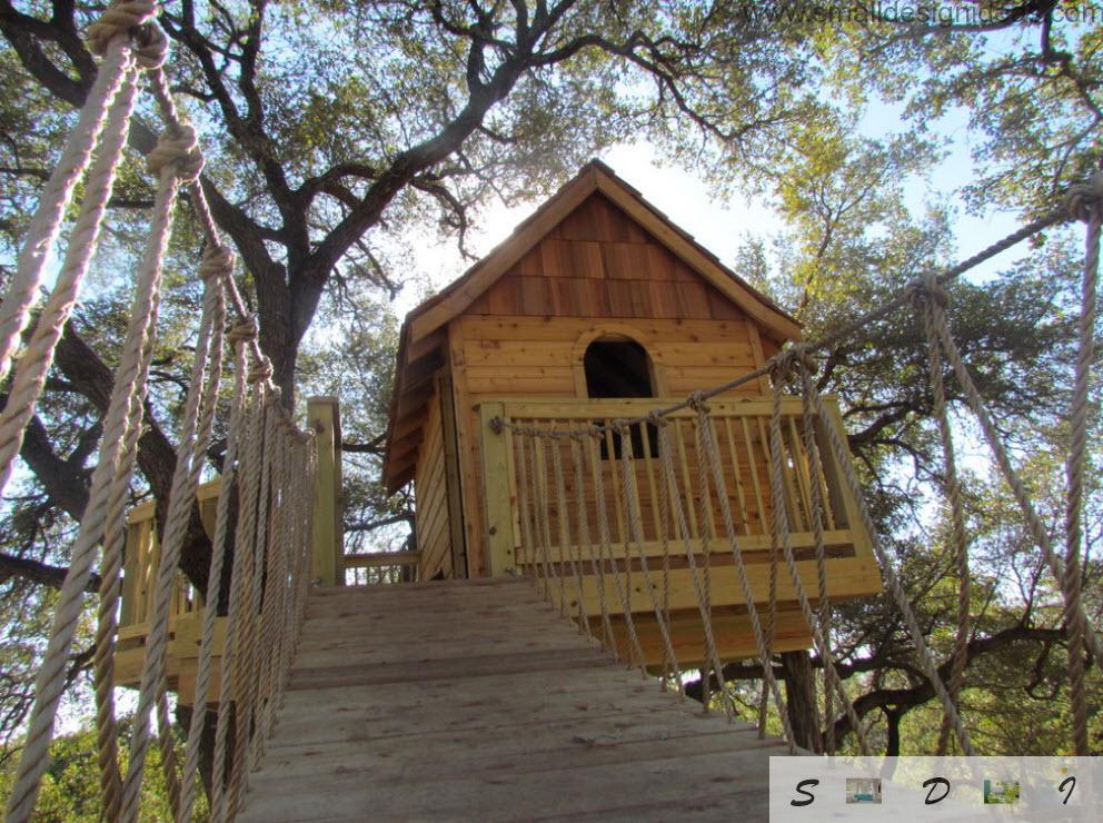 Fresh design idea for the children`s tree house