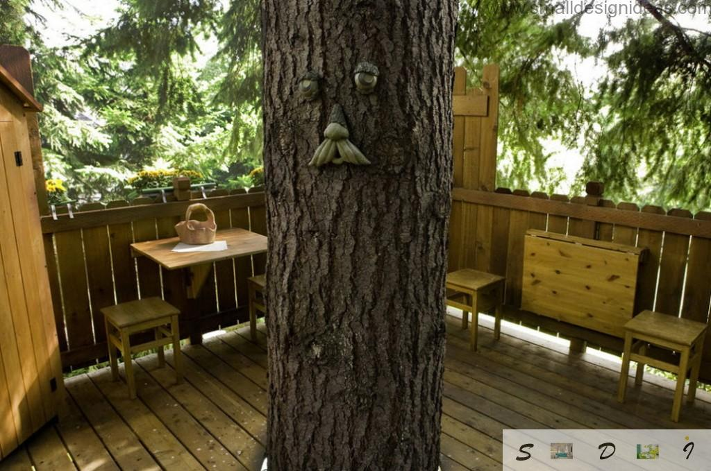 Designer`s ide to arrange the tree as the forest Spirit