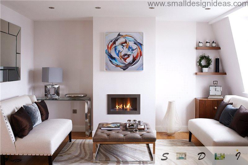 Small Living Room Decorating Ideas of the hearth and painting above it