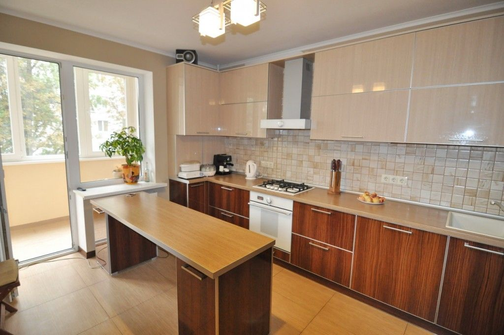 Modern Kitchens Glossy Cabinets Refacing. Island kitchen with glance plastic cabinets