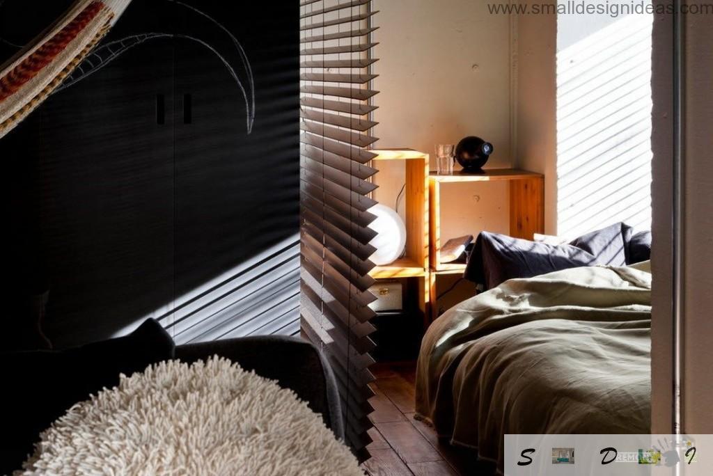 Roman blinds - European element in the Oriental apartment