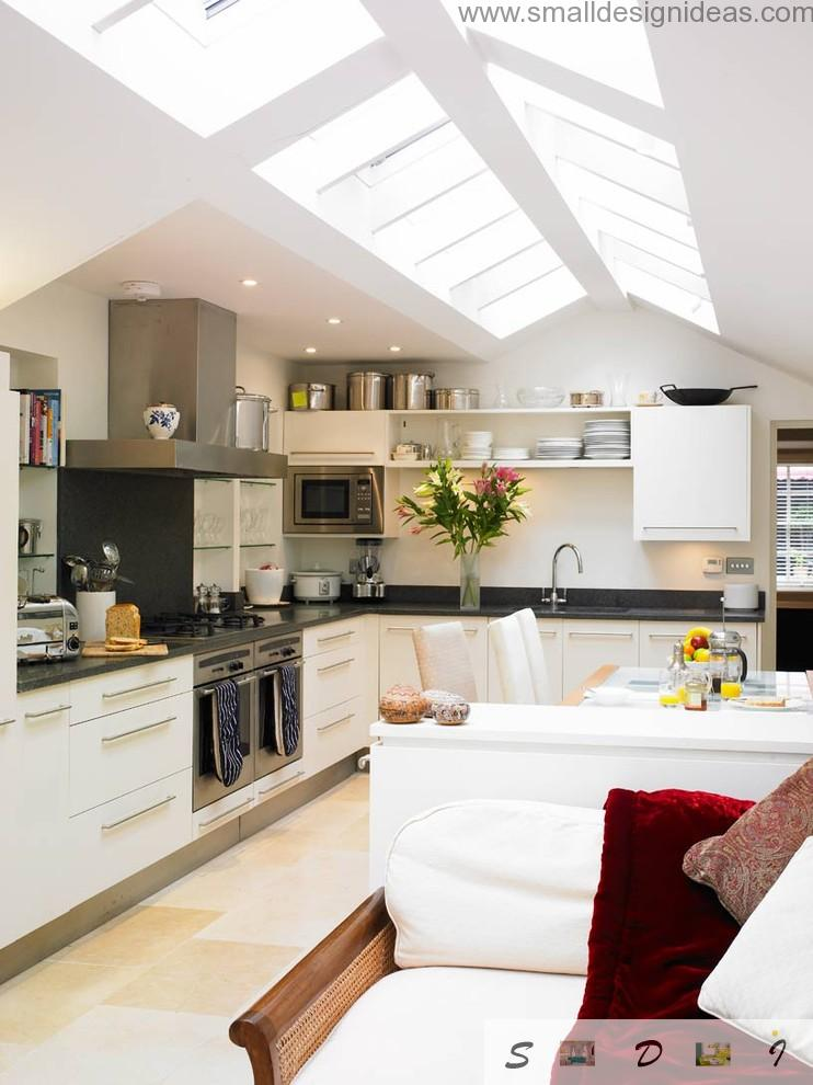 plenty of light plays crucial role in the kitchen design