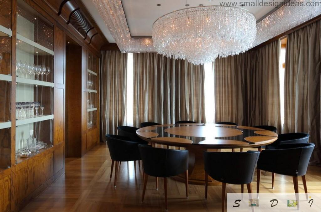 Chic flat and chic furniture in the dining room