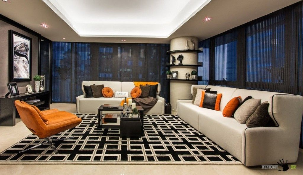 Singapore Apartment Modern Design Ideas in the spacious living room