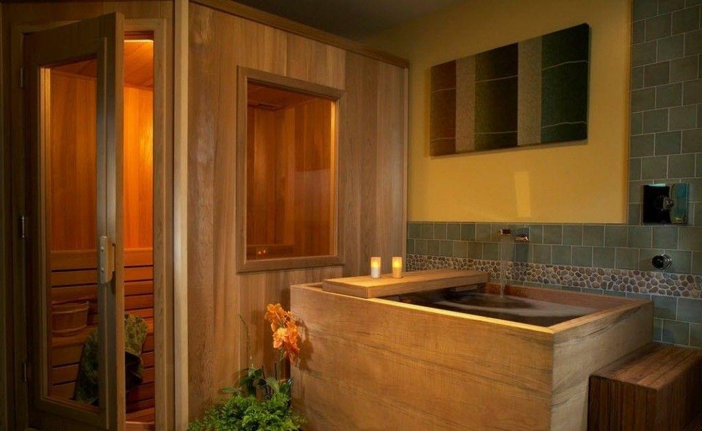 Oriental Style Bathroom Design Ideas. Hinoki bathroom is very popular in Japan