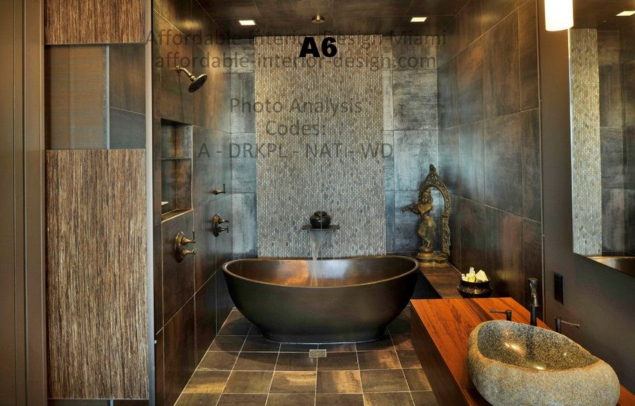 Modern copper bathtub bathroom design ideas with mosaic tile