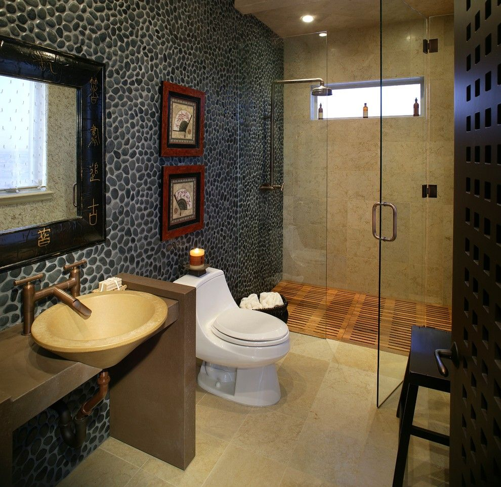 Oriental Style Bathroom Design Ideas for small one