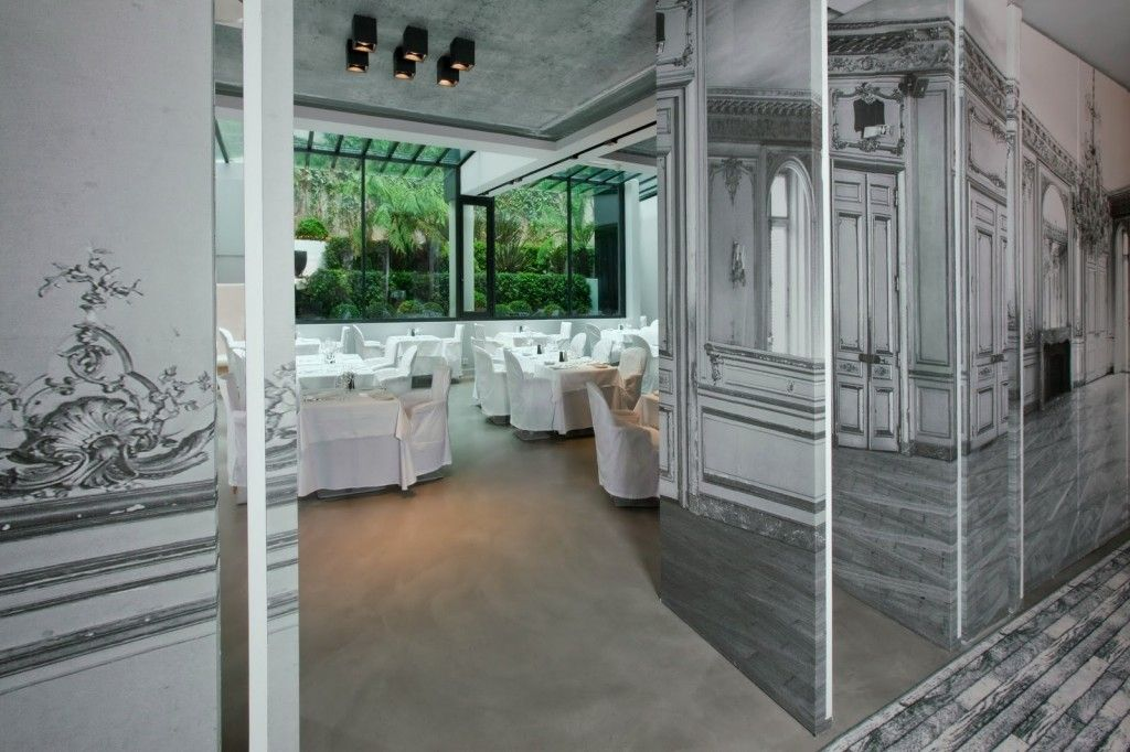 French Apartment Baroque Eclectic Modern Interior Design. ballroom in the first floor