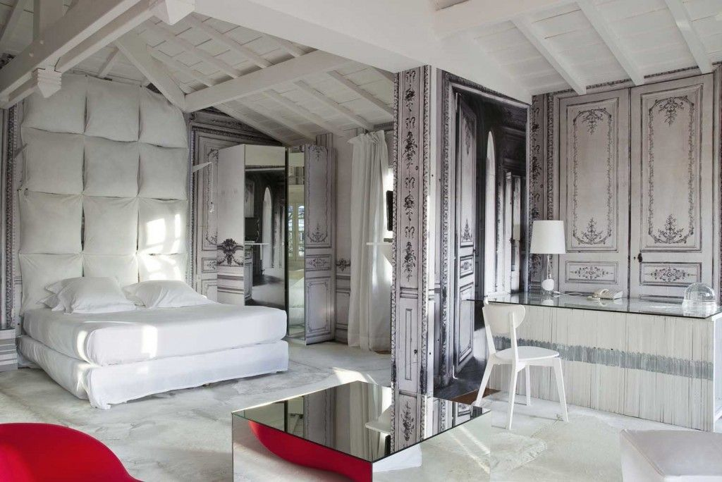 French Apartment Baroque Eclectic Modern Interior Design. Studio bedroom with living zone