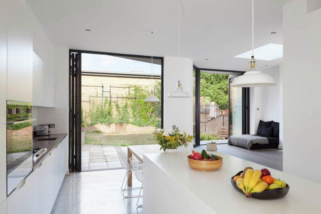 Minimalistic and ecological Scandinavian style kitchen