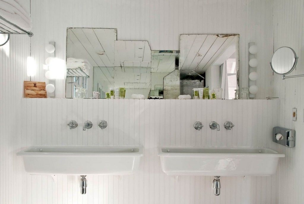 French Apartment Baroque Eclectic Modern Interior Design. Industrial notes in the bathroom