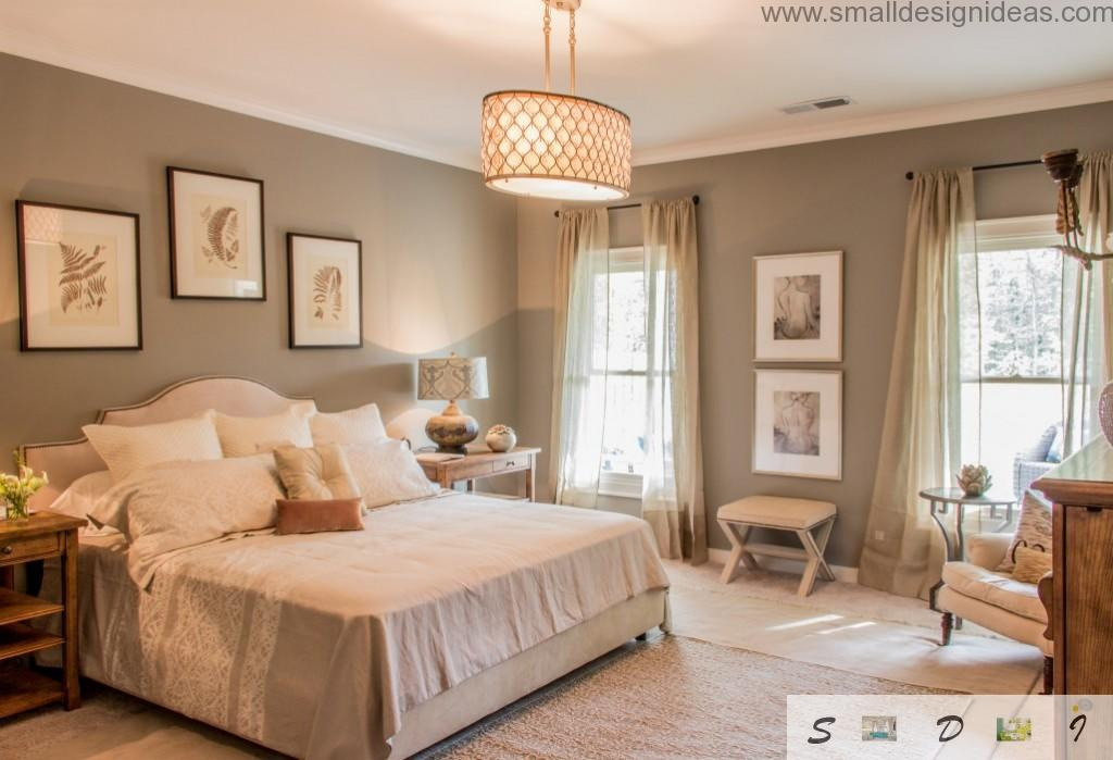 Provence Style Bedroom Design with family values in the form of revered photos