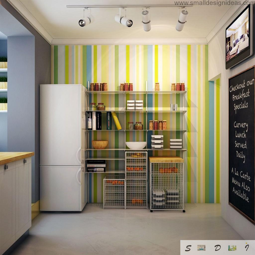 Unique colorful design of modern kitchen