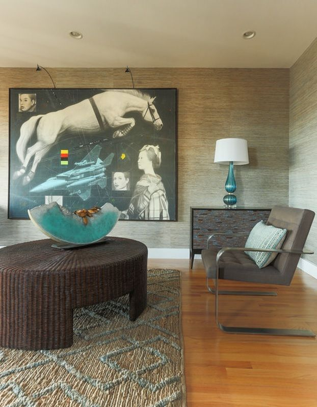 Wall Pictures House Interior Design Ideas. Big wall-size painting of the horse