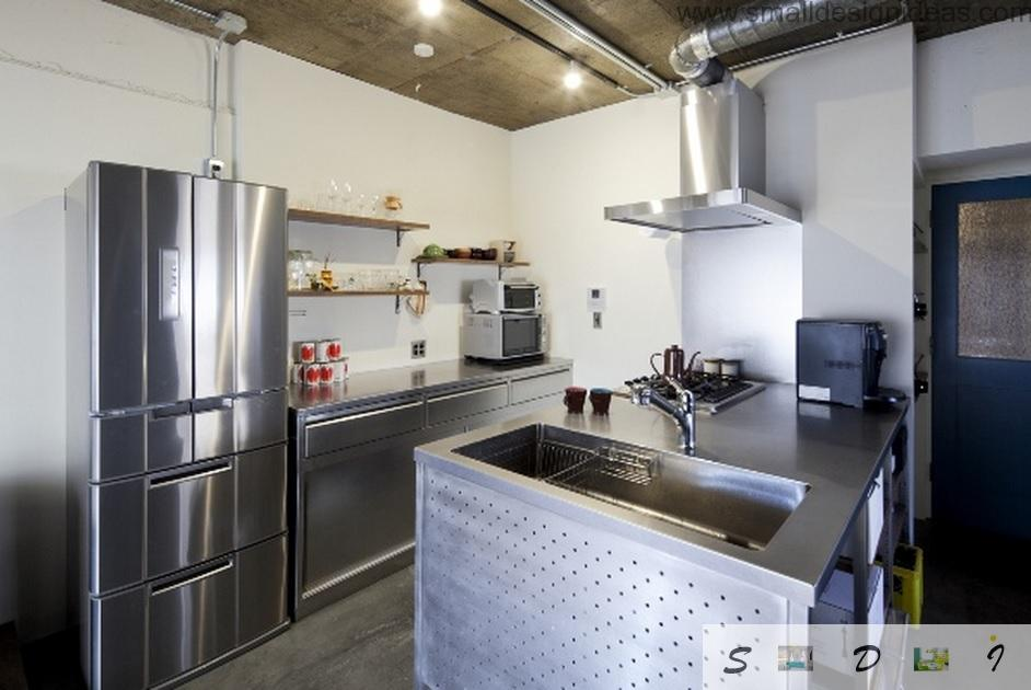 Loft kitchen premise as if it is in the restaurant