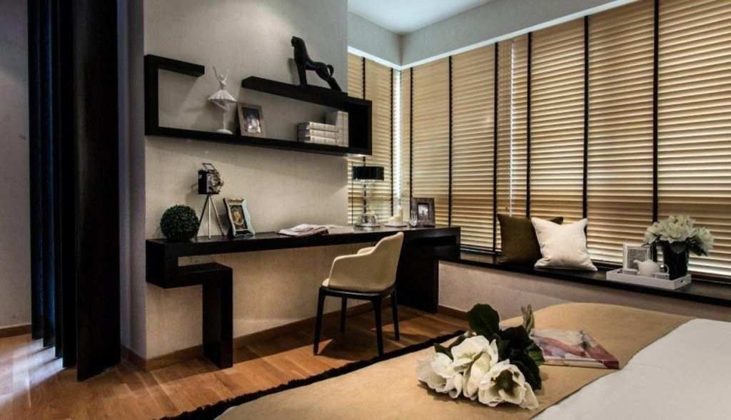 Singapore Apartment Modern Design Ideas. home office hi-tech and minimalistic design