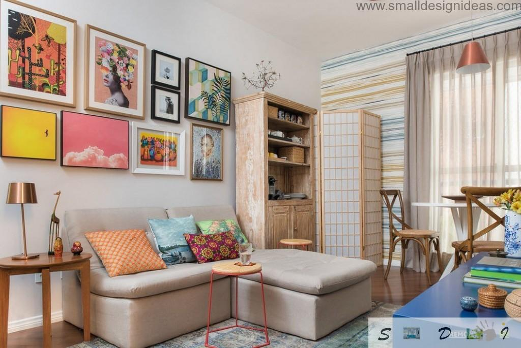 Small living room decoration ideas of the premise with lots of stuff