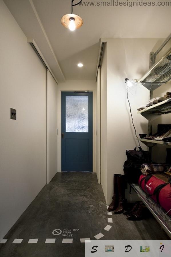 Hallway of the Japanese loft apartment
