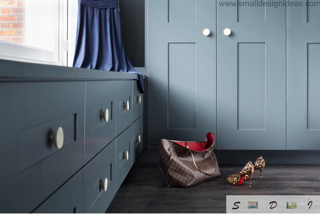 Storage systems in the modern house interior design of the private house in London