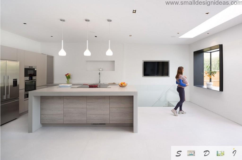London`s House Interior Design Tour in the originally decorated spacious kitchen