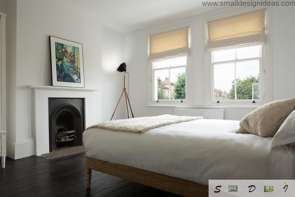 London`s House Interior Design Tour of the bedroom with white finishing