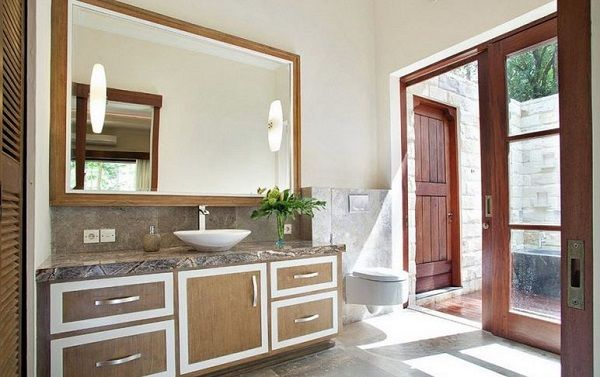 Oriental Style Bathroom Design Ideas with light Chinese interior