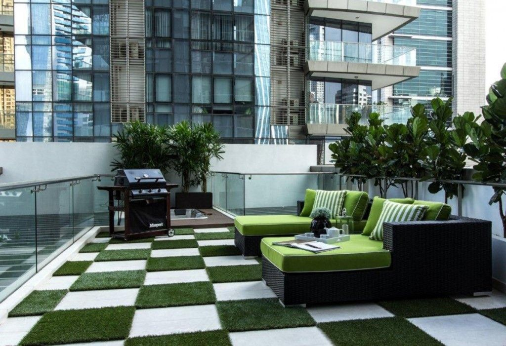 Singapore Apartment Modern Design Ideas. Terrace with natural motifs