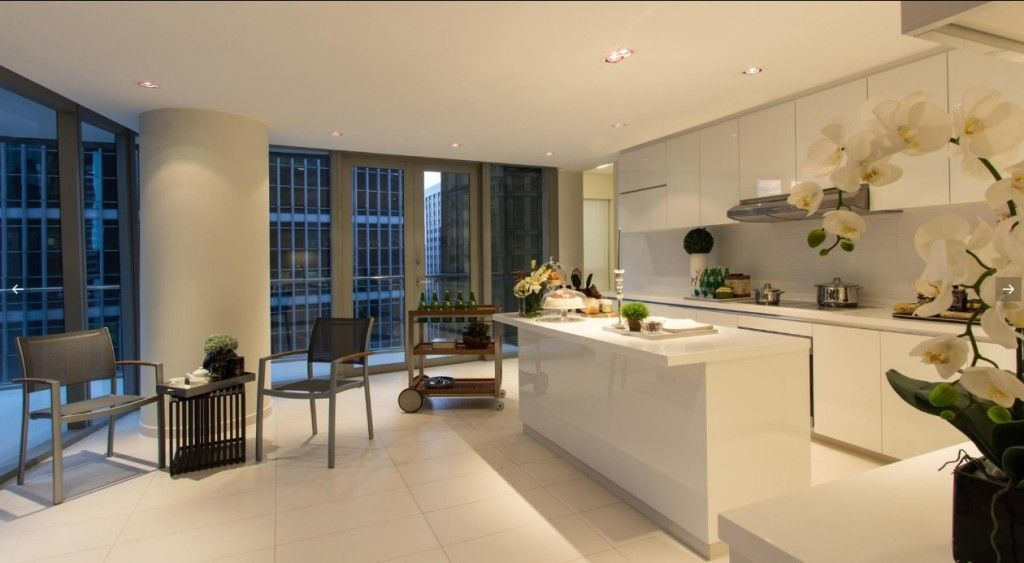 Singapore Apartment Modern Design Ideas. White color palette of modern kitchen