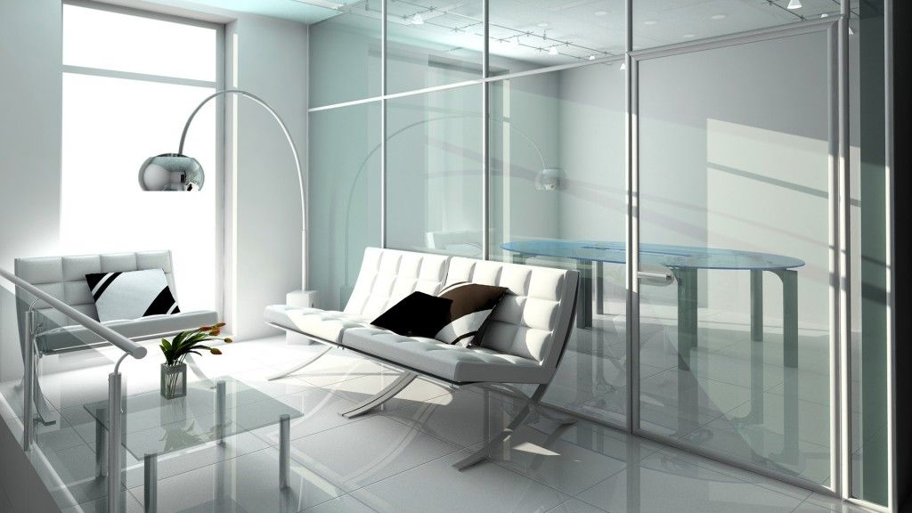 Modern hi-tech style is complemented greatly by the transparent furniture
