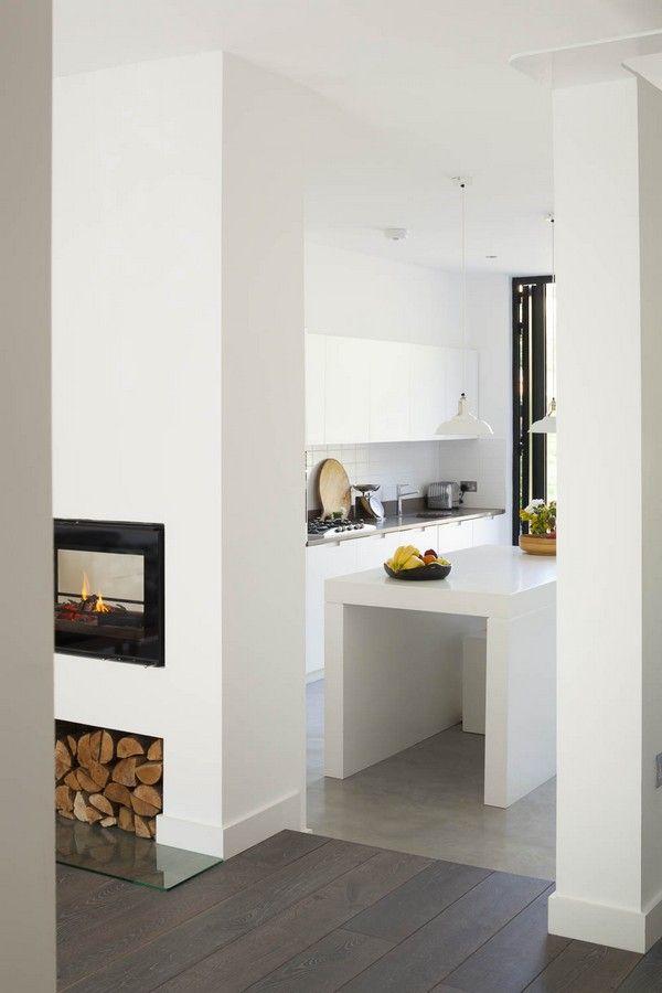 Scandinavian house passage to the open layout kitchen