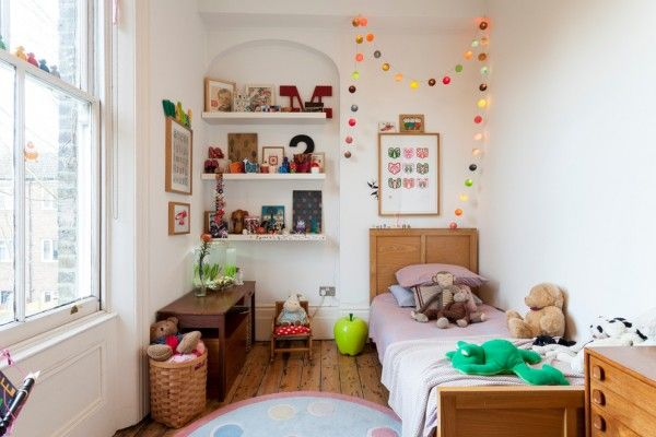 Kids Room Interior Design Ideas 2015. Light neutral soothing atmosphere in the room full of small literal and numeric symbols