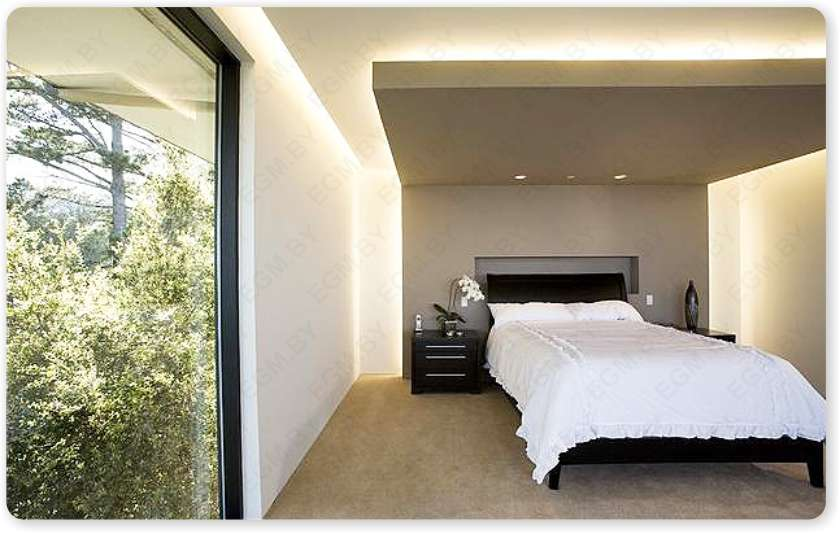 Proper Bedroom Interior Lighting Schemes Photos. Falling ceiling effect
