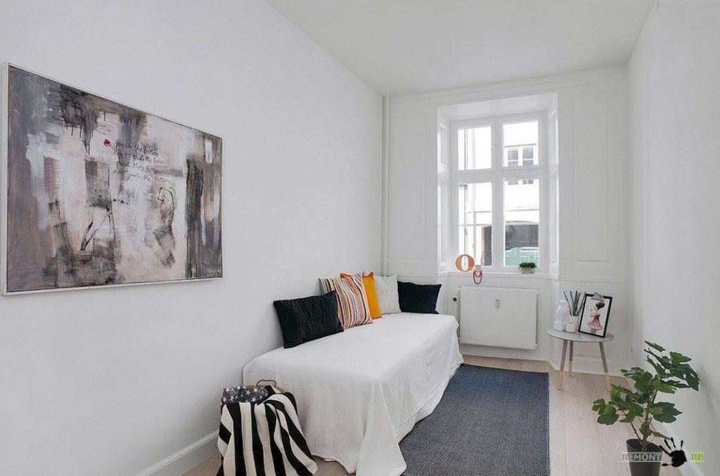 Scandinavian Style Apartment Room Decorating Ideas in small children`s room