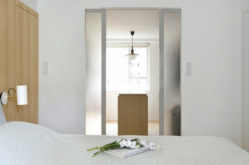 White Minimalistic Hong Kong Apartment Interior Design Ideas. Nice inner door ideas