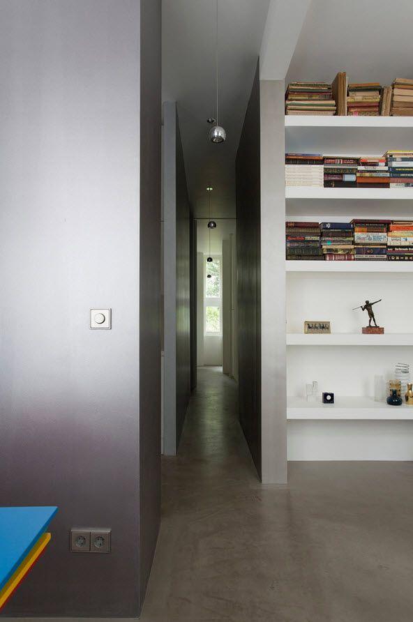 Small 150 Square Feet German Apartment Interior Design Ideas. Living room decorative elements